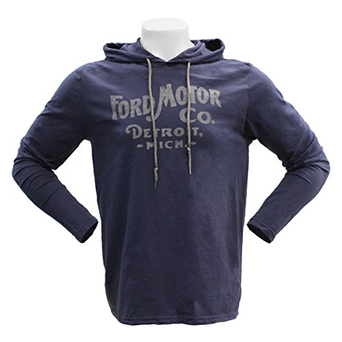 ford-motor-co-detroit-long-sleeve-hooded-tee-poly-cotton-blend-classic-look-medium