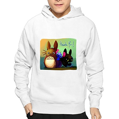 My Neighbor Totoro Pullover Hoodies Casual Men Sweatshirts 80's Hoodies L