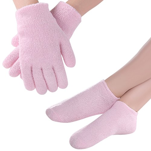 Amazon.com: PRETTY SEE Moisture Socks Moisturizing Gel Gloves Moisturizing Spa for Cracked Skin Care and Instant Soften Repair, Pink: Beauty