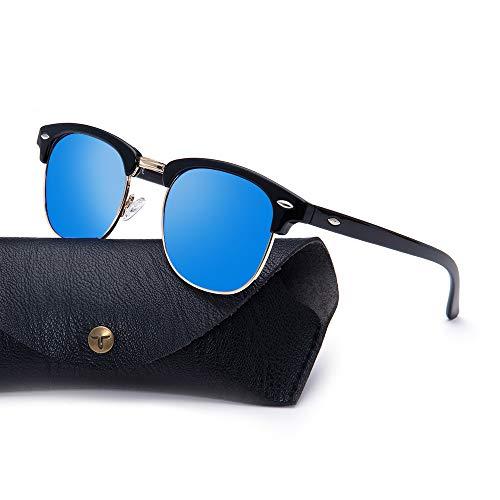 Tacloft Polarized Sunglasses Semi Rimless Frame Brand Designer Classic Women Men Retro Sun Glasses