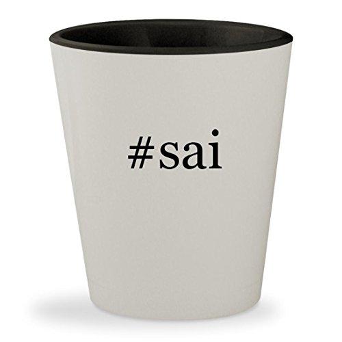 #sai - Hashtag White Outer & Black Inner Ceramic 1.5oz Shot - Sweet Gomez Selena