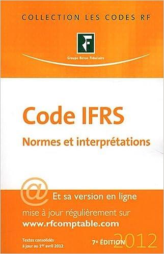 Téléchargement Code IFRS 2012 - Normes et interprétations epub, pdf