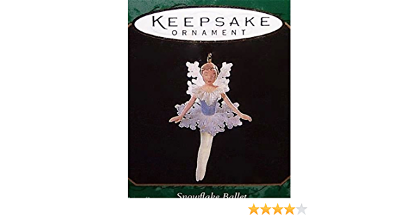 VTG 1997 HALLMARK Miniature Christmas Ornament SNOWFLAKE BALLET Series #1 NOS
