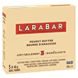 Larabar Gluten Free Peanut Butter Fruit and Nut Energy Bar, 5-Count, 240 Gram