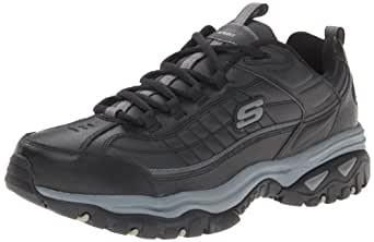 Skechers Men's Energy Afterburn Lace-Up Sneaker,Black/Gray,11 M US