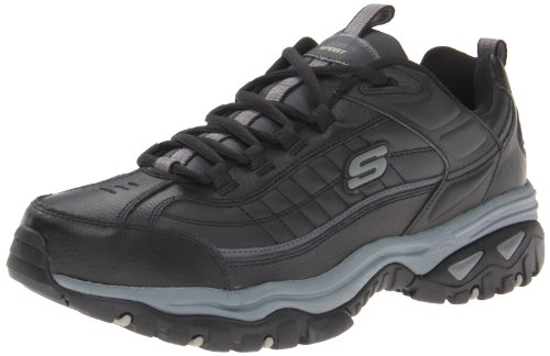 Skechers Sport Men's Energy Afterburn Lace-Up Sneaker,Black/Gray,7 XW US