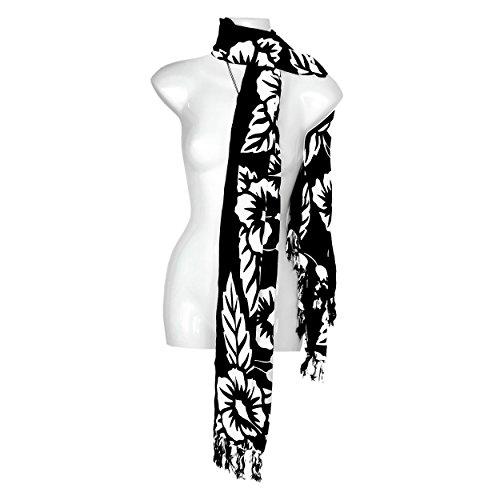 Couleurs nbsp;monde Votre Largeur Floral Paréos 1 Noir Écharpe Hibiscus Pour Choix Femme Dans De 7UdzwZq