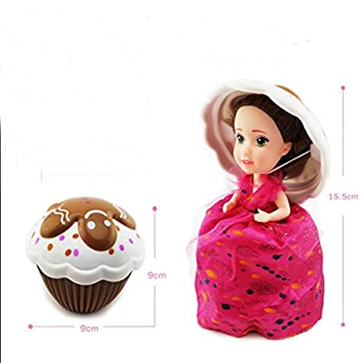 Evursua Transform Cupcake Doll with Surprise,Scented Mini Princess Dolls,Magic Gift Toys for 3 Year Old Girls (1 Pack): Clothing