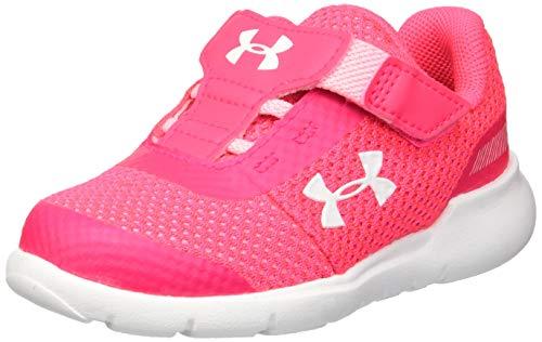 Under Armour Girls' Infant Surge RN Sneaker (600)/Penta Pink, 6K
