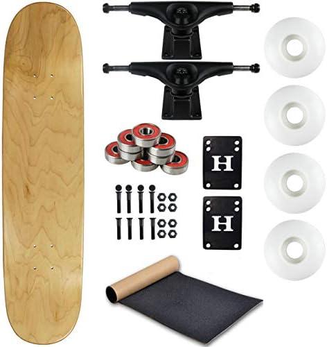 """Moose Complete Skateboard Colorés Noir 7.63/"""" Noir//Blanc"""