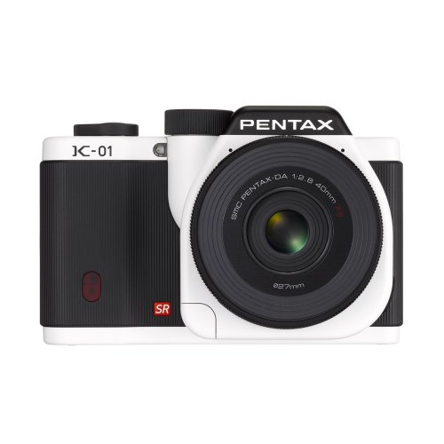 Pentax Mirrorless Body Design Compatible with Pentax K Mount Lenses K-01 Body Kit (White)