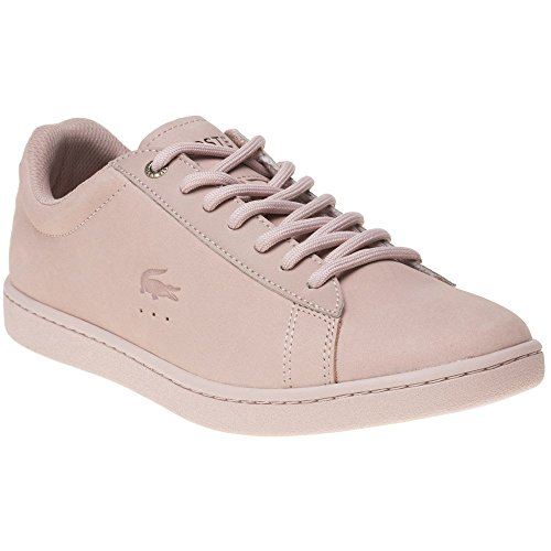 Lacoste WomenS Carnaby Evo 118 1 G Nubuck Lace Up Trainer Light Pink-Pale Pink-3 Size 3