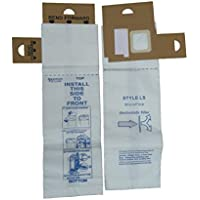 6 Eureka Type LS Sanitaire Vacuum Bags, LiteSpeed Upright, Bagged, Boss Signature Genesis, Refurb Powerline Limited, Sanitaire Commercial Vacuum Cleaners, Series 5700 & 5800, 62123 61820A, SC5815A, SC5713A