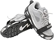 ODIER Shoe Ice Cleats 24 Teeth Ice Grippers 10 Teeth Cleats Shoes Designed for Walk on Ice Snow and Freezing M
