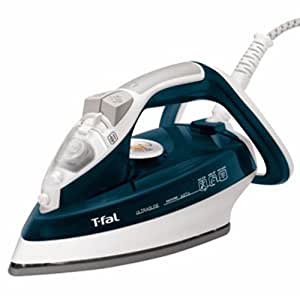 T-fal FV4476 Ultraglide Easycord Steam Iron Ceramic Scratch Resistant Non-Stick Soleplate with Auto-Off and Anti-Drip System, 1700-Watt, Blue