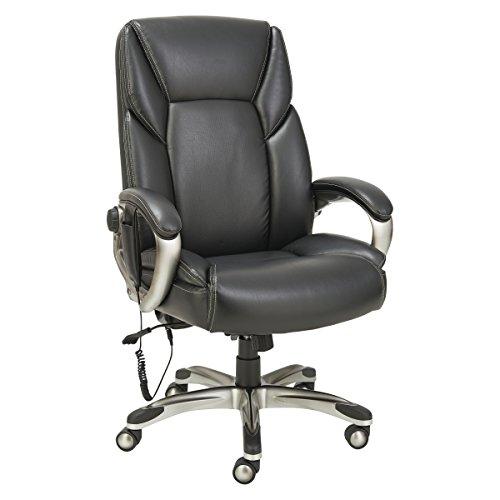 (Alera ALESH7019 Shiatsu Massage Chair, Black, Silver)