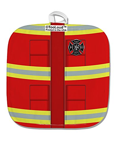 Hot Firefighters Costumes (TooLoud Firefighter Red AOP White Fabric Pot Holder Hot Pad All Over Print)