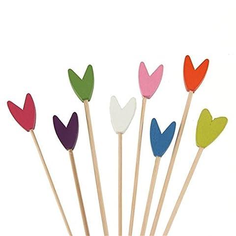 BambooMN Brand - Premium Decorative Tulip End Cocktail Bamboo Picks - Assortment, 5.9