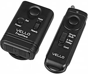 Vello FreeWave Wireless Remote Shutter Release for Canon w/3-Pin Connection with Canon EOS: 10D, 20D, 30D, 40D, 50D, 5D, 5D Mark II, 5D Mark III, 6D, 7D, 7D Mark II, 1D, 1D Mark II, 1D Mark II N, 1D Mark III, 1D Mark IV, 1Ds, 1Ds Mark II, 1Ds Mark III, 1D X and 1D C.