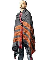 Meditation Shawl   Plain Meditation Blanket, Prayer Shawl or Wool Wrap
