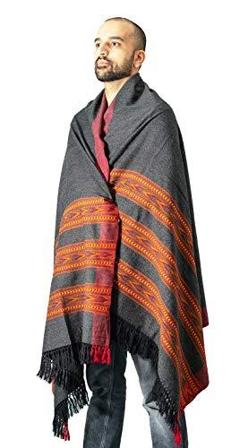 (Meditation Shawl by Om Shanti Crafts   Prayer Shawl, Buddha Blanket, Oversize Scarf, or Wool Wrap for Daily Meditation Unisex (Extra Large 7.5'x3.5'))