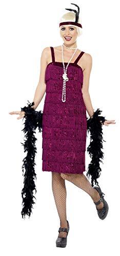 Smiffys Women's Jazz Flapper Costume, Dress and Headpiece, 20's Razzle Dazzle, Serious Fun, Plus Size 22-24, 26110]()