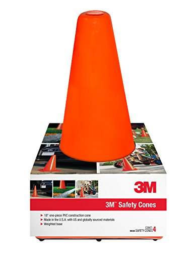3M 90128-4PK, 18' Professional Quality Non Reflective  Safety Cone, 4-Pack