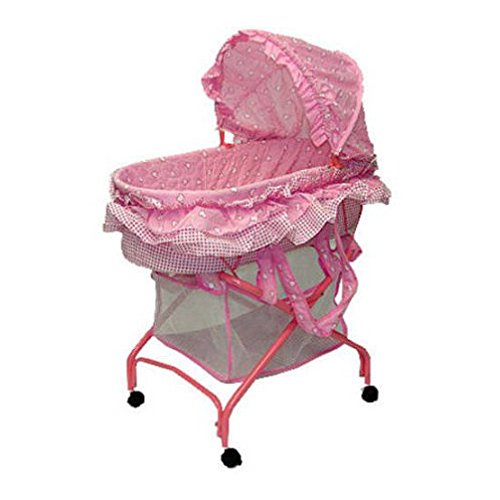 [Dream On Me Layla 2 in 1 Bassinet To Cradle, Pink] (Girl On A Swing)