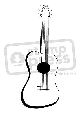 A7 Guitarra Acustica Sello de Goma (Desmontado) (SP00009345 ...