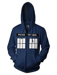 Ripple Junction Doctor Who Call Box Window Adult Zip Hoodie