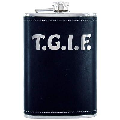 Maxam KTFLKTGF Flask with TGIF Wrap, 8 oz, NA