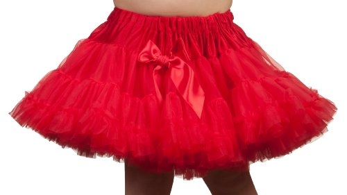 Laura Dare Girls Red Longer Petti Skirt Tutu, Size XL]()