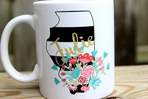 Personalized Coffee Cup - Personalized Coffee Mug - Custom Coffee Mug - State Mug - Custom Coffee Cup - Gift for Mom - Gift for Co-worker