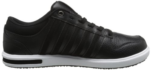Sneaker Allacciata K-swiss Mens Palisades Ii Nero / Bianco