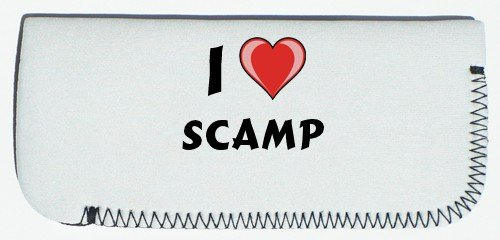 Glasses Case with I Love Scamp (first name/surname/nickname) SHOPZEUS