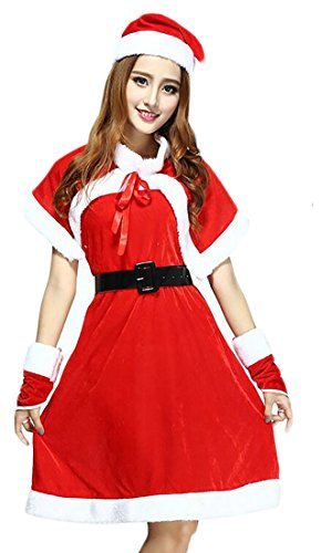 (Esast womens Fashion Plus Size Santa Claus Sweetie Costume 13)