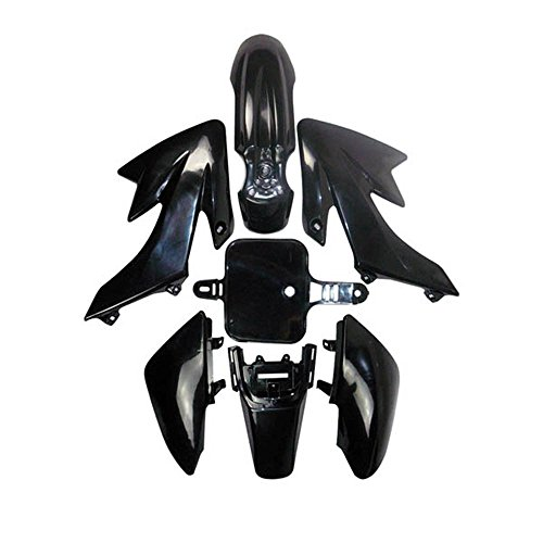PLASTIC FENDER FAIRING FOR HONDA XR50 CRF50 SSR SDG 70cc 50cc 110cc 125cc PIT Dirt BIKE (ALL BLACK)