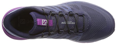 Salomon Sense Ride Trail Running Shoe - Women's Evening Blue/Crown Blue/Grape Juice 6 by Salomon (Image #7)