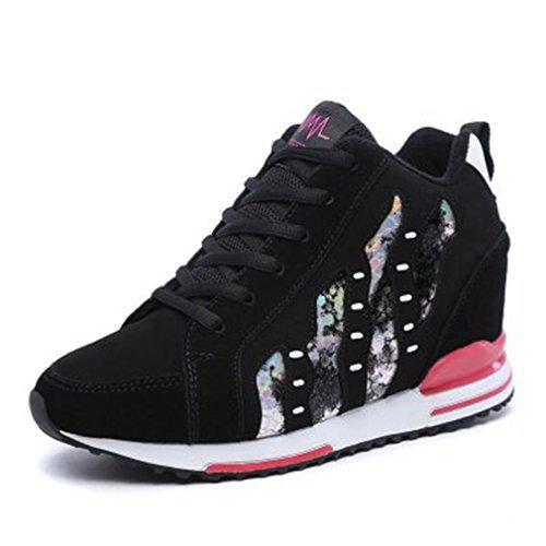 the latest 934b0 12a15 Sneakers Alte In Pelle Scamosciata Casual Da Donna, Sneakers In Pelle  Scamosciata Con Zeppa Nascoste