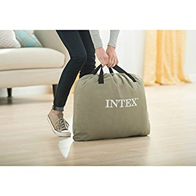 Intex Deluxe Pillow Rest Raised Airbed with Soft Flocked Top for Comfort