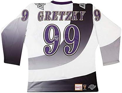 separation shoes 94741 6e654 Wayne Gretzky LA Kings Signed Burger King Retro Mitchell ...