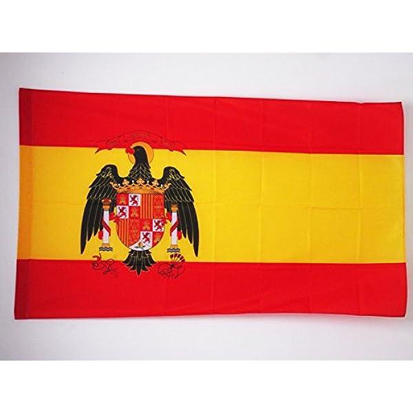 AZ FLAG Bandera de ESPAÑA 1977-1981 150x90cm para Palo - Bandera ESPAÑOLA con Aguila 90 x 150 cm: Amazon.es: Hogar