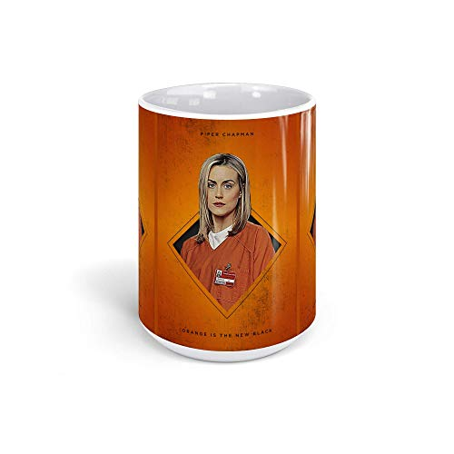 Ceramic Coffee Mug Television Show Cup Square Piper Chapman Oitnb Tv Shows Series Drinkware Super White Mugs Family Gift Cups 15oz 443ml ()