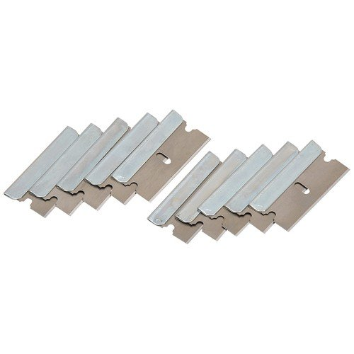 Single Edged High-Carbon Alloy Steel Razor Blades for Utility Knife, Pack of 10