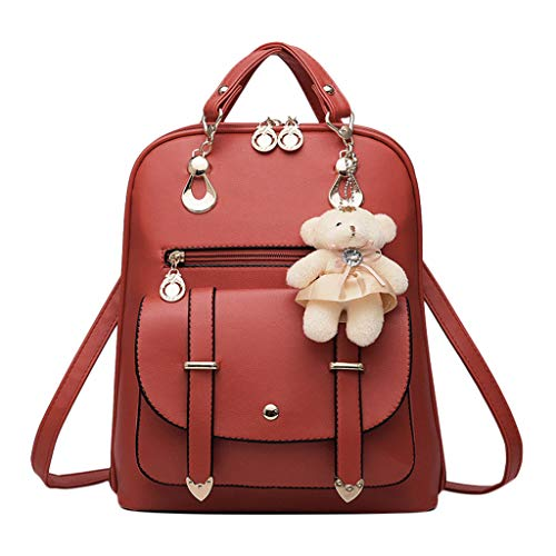Backpack Travel Handbag,SIN+MON Girls New Rucksack Shoulder Bookbags Leather Tote Bag Daypack Satchel Crossbody Bags
