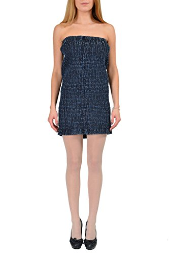 Maison Martin Margiela MM6 Women's Blue Denim Strapless Dress US L IT 44; (Women Dresses Martin Margiela)