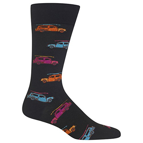 Hot Sox Men's Woody Surfer Car Socks