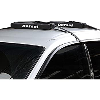 Surfboards and Longboards Dorsal Wrap-Rax Deluxe Double Soft Rack Pads and Straps