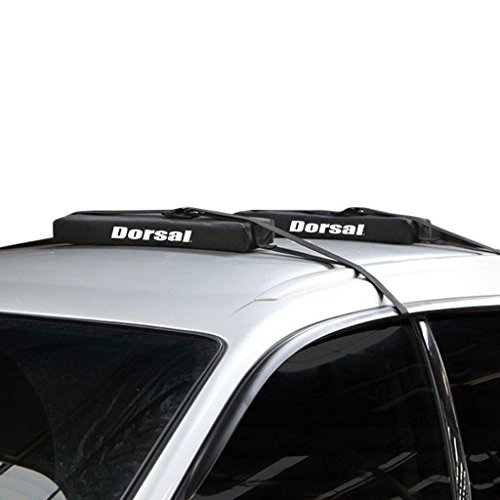 Dorsal Wrap-Rax Surfboard Longboard Soft Roof Rack Pads Straps, 19 Inch