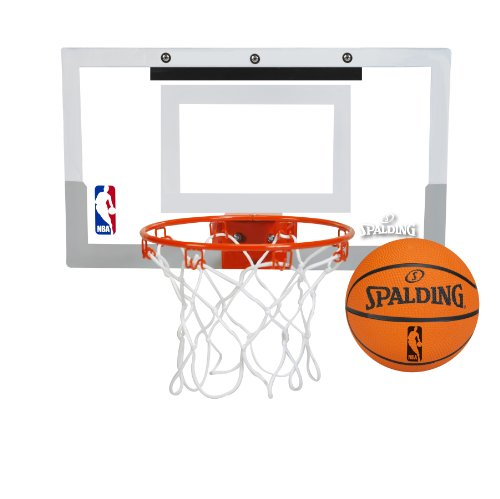Spalding NBA Slam Jam Over-The-Door Mini Basketball Hoop (Breakaway Basketball)